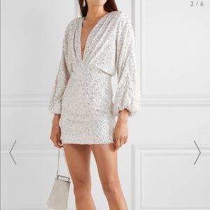 Retrofete aubrielle sequined chiffon mini dress